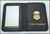 US Treasury Dept. SIG Special Agent Mini Badge ID Card Holder Case with Family Member Embossing