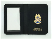Bureau of Indian Affairs Police Chief Mini Badge ID Cases with Girlfriend Embossing