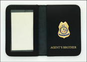 Bureau of Indian Affairs Special Agent Mini Badge ID Cases with Agent's Brother Embossing