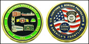 Customs and Border Protection Confined Space Entry Challenge Coin - Both Sides