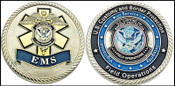 Customs and Border Protection EMS Challenge Coin Both Sides