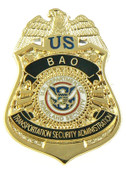 Transportation Security Administration BAO Officer Mini Badge Lapel Pin