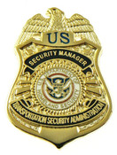 Transportation and Security Administration Security Manager Mini Badge Lapel Pin