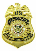 Transportation Security Administration Lead Officer Mini Badge Lapel Pin