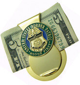 U.S. Border Patrol Challenge Coin Mini Badge Money Clip