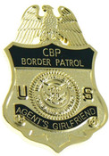 U.S. Border Patrol Agent's Girlfriend Mini Badge Lapel Pin