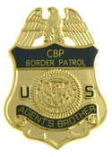 U.S. Border Patrol Agent's Brother Mini Badge Lapel Pin