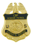 "U.S. Border Patrol ""Agent's Sister"" Mini Badge Lapel Pin"