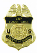 U.S. Border Patrol Agent's Husband Miini Badge Lapel Pin