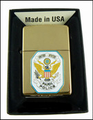 Authentic Brass Zippo Lighter with Park Police Patch
