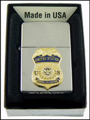 Federal Air Marshal Chrome Cigarette Lighter