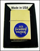 US Border Patrol Brass Cigarette Lighter with a BP Logo