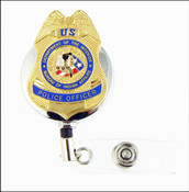 Bureau of Indian Affairs Police Officer Mini Badge Retractable ID Holder