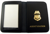 "AMO Marine Interdiction Agent Mini Badge with ""Agent's Father"" Embossed Wallet"