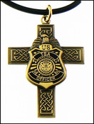 Transportation Security Administraion Mini Badge and Cross Necklace