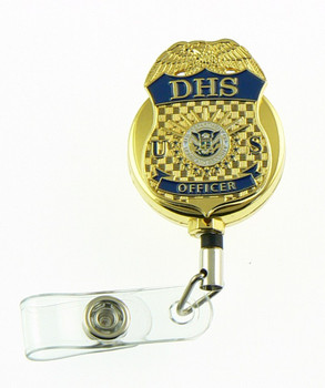 Department of Homeland Security DHS Officer Mini Badge ID Reel