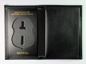 Embossed Immigration and Customs Enforcement Leather Badge and Credential Wallet