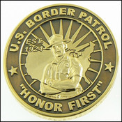 U.S. Border Patrol Honor First Challenge Coin - Front View