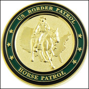 U.S. Border Patrol Horse Patrol Challenge Coin - Back side