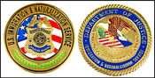 Immigration and Naturalization Service Special Agent Challenge Coin