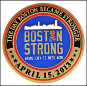 Boston Marathon Bombing Boston Strong Challenge Coin - Front