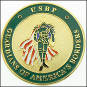 U.S. Border Patrol Full Color Sentinel Challenge Coin - Front