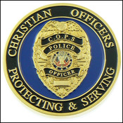 Christian Police Officer Challenge Coin - Front
