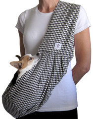 Dog Sling - Cotton Black and White Houndstooth