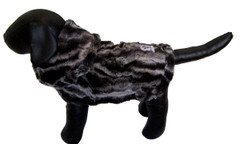 Dog Jacket - Faux Fur Black Marble