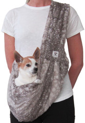 Dog Sling - Faux Fur - Fawn