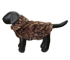 Dog Jacket - Faux Fur Leopard
