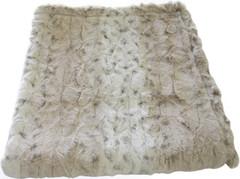 Luxury Faux Fur Dog Blanket - Ivory Leopard