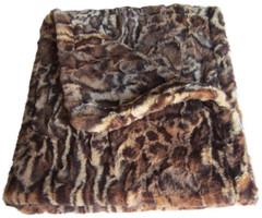 Luxury Faux Fur Leopard Dog Blanket
