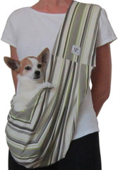 Dog Sling - Cotton Summer Striped Sling