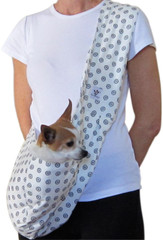 Dog Sling - Cotton Blue Medallion