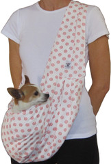 Dog Sling - Cotton Coral Medallion