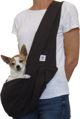 Dog Sling - Cotton Black