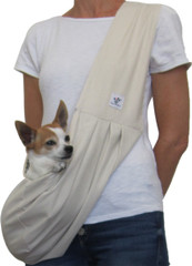 Dog Sling - Cotton Cream