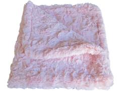 Luxury Faux Fur Dog Blanket - Pink
