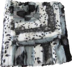 Luxury Dog Blanket - Gray/Black Animal Print