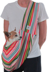 Dog Sling - Cotton Bright Striped