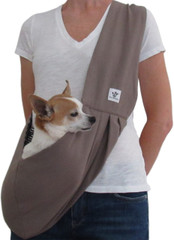 Dog Sling -  Cotton Dark Khaki