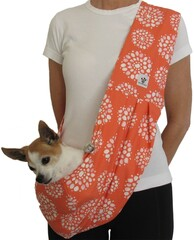 Dog Sling - Cotton Coral Burst