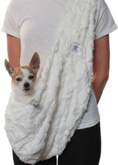 Dog Sling - Faux Fur Snow