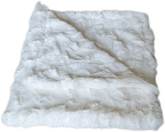 Luxury Faux Fur Dog Blanket - Snow