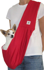 Dog Sling - Cotton Red