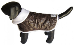 SALE! Dog Jacket - Brown Puffy Jacket
