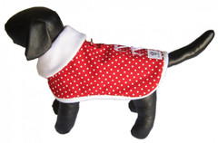 SALE! Dog Jacket-Red and White Polka Dot
