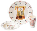 3 piece set for the Year 3, Age 7, age group, as recommended in the new National curriculum. The set contains 3 exquisite pieces: 25 cm plate, a 19cm bowl and an 11cm beaker, each featuring your choice of either the x6, x7 and x8 Times Table characters - 'theMultiples' - to help your family to learn their Times Tables in a low profile and fun way. Times tables are the key foundation stone towards a life long proficiency in Maths and natural affinity for numbers. High quality 100% melamine with glossy finish. Designed in UK. Dishwasher safe. Not for microwave (as with all melamine products). Delivery in 48 hours normally. The new National Curriculum guidelines: Intermediate:     Age 7:               x6,    x7,    x8