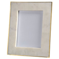 marble frame with brass edge